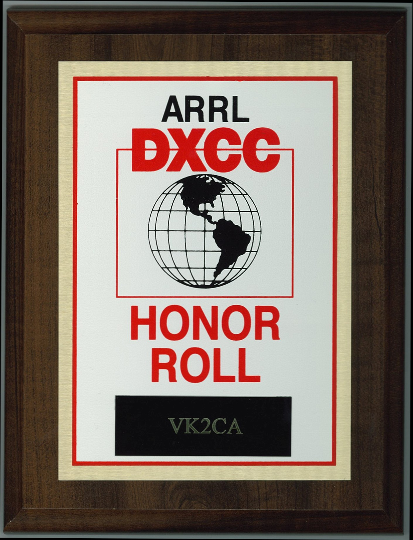 honor roll plaque small